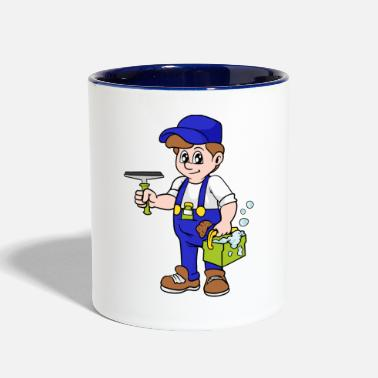 Cleaner Window Cleaner - Contrast Coffee Mug