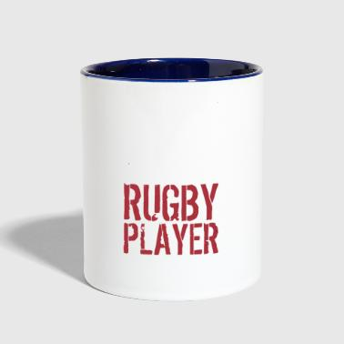 I hate being sexy but im a rugby player so i cant - Contrast Coffee Mug