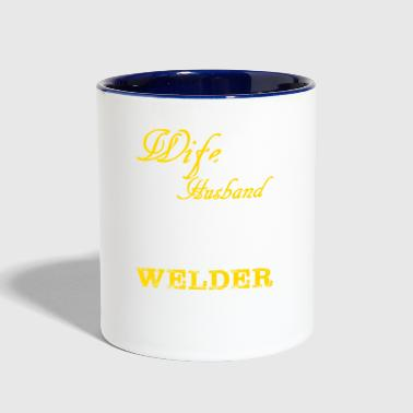 Wife Wife and Husband Welder T-Shirts - Contrast Coffee Mug