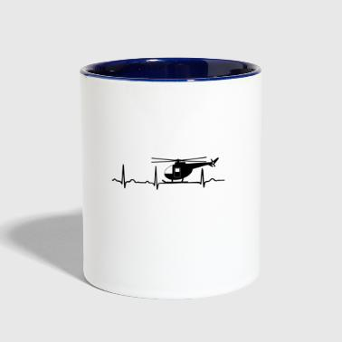 GIFT - ECG HELICOPTER BLACK - Contrast Coffee Mug