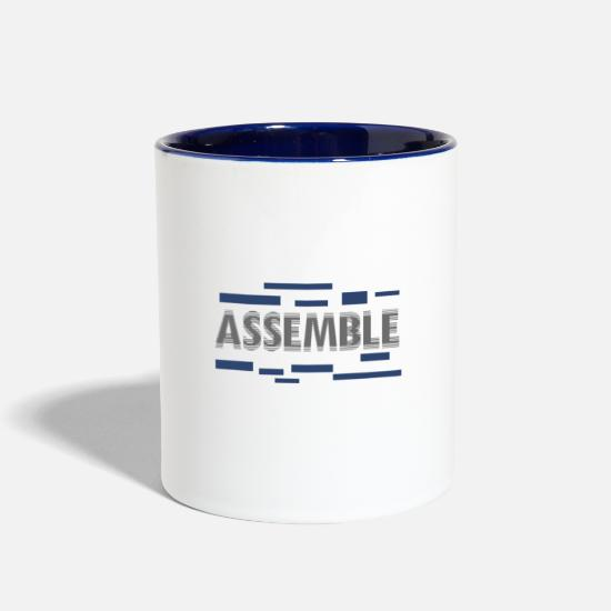 Assembler Mugs & Drinkware - Assemble - Two-Tone Mug white/cobalt blue