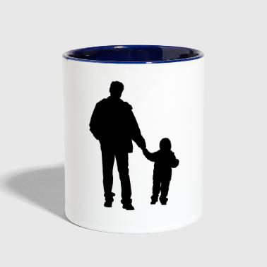 father and son 2 - Contrast Coffee Mug