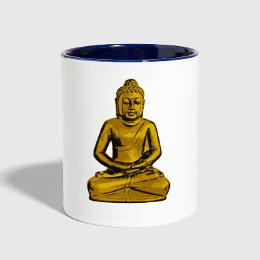 meditation buddhist - Contrast Coffee Mug