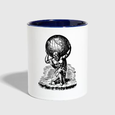 Atlas lifts the World Greek Mythology - Contrast Coffee Mug