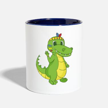 American Indian American Indian crocodile - Contrast Coffee Mug