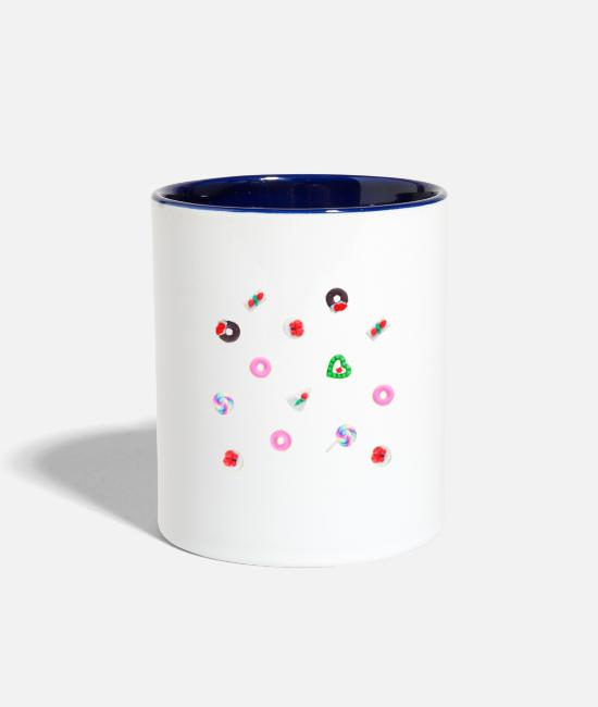 Love Mugs & Drinkware - Candy - Two-Tone Mug white/cobalt blue