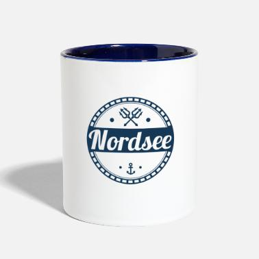North Sea North Sea,north,sea,holiday,island,anchor - Two-Tone Mug