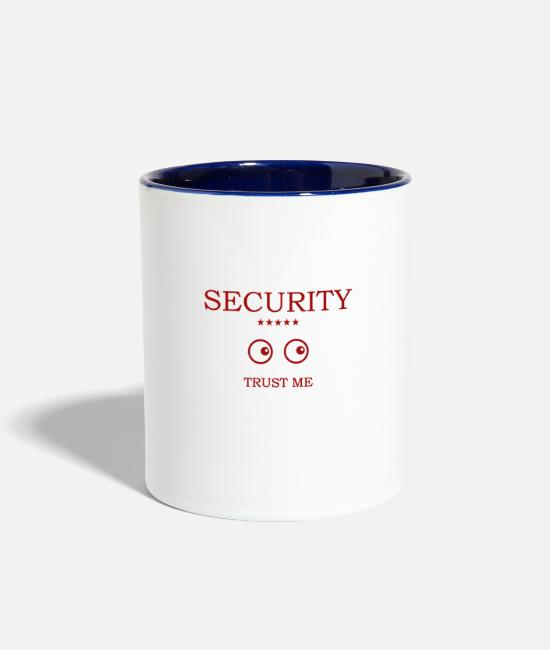 Secret Mugs & Cups - Security Eyes looking - Two-Tone Mug white/cobalt blue