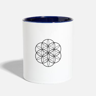 Life Flower Of Life - Two-Tone Mug
