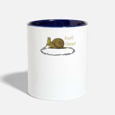 Clever Snail clever - Contrast Coffee Mug