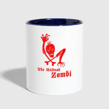 The undead zombi - Contrast Coffee Mug
