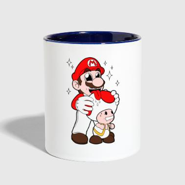 Mario Licking Toad - Contrast Coffee Mug