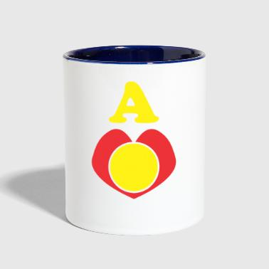 A Bright Heart - Contrast Coffee Mug