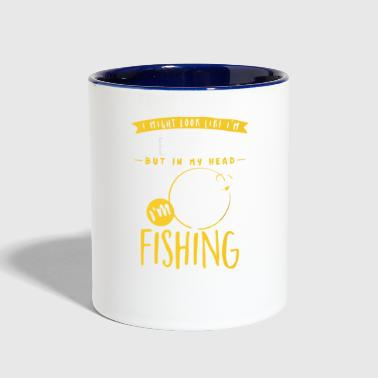 Fishing In My Head - Contrast Coffee Mug