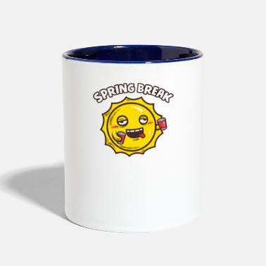 Spring Break Spring Break - Contrast Coffee Mug
