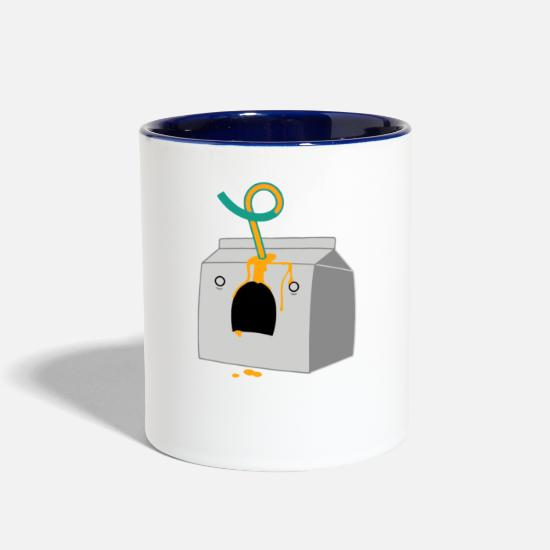 Game Mugs & Drinkware - Cartons Of Death - Two-Tone Mug white/cobalt blue