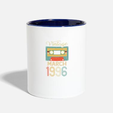 Tape Vintage March 1996 25th Birthday 25 Year Gift - Two-Tone Mug