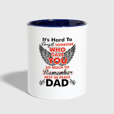 Rest In Peace Dad - Contrast Coffee Mug