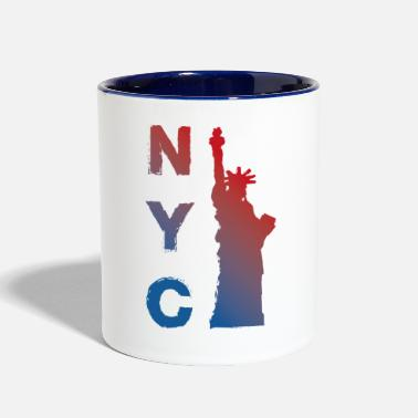 City New York City - Contrast Coffee Mug