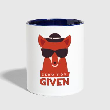 ZERO FOX GIVEN give a f**k funny t-shirt humor tee - Contrast Coffee Mug