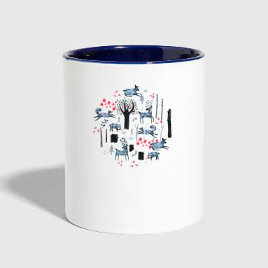 Frosted Forest - Contrast Coffee Mug