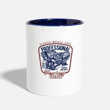 Muscle 14 muscle car professional - Two-Tone Mug
