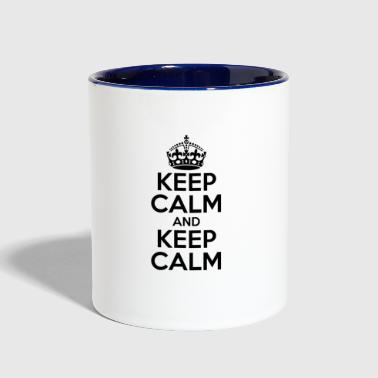 KEEP CALM AND KEEP CALM - Contrast Coffee Mug
