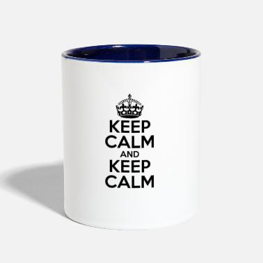 Keep Calm KEEP CALM AND KEEP CALM - Contrast Coffee Mug