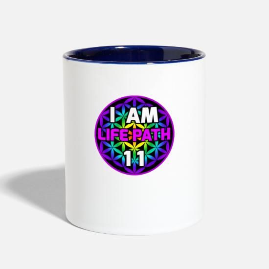 Flower of Life for Life Path 11 Charismatic Two-Tone Mug | Spreadshirt