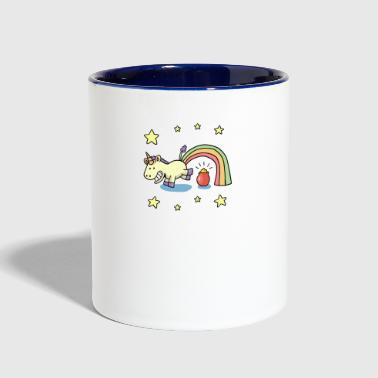 Funny unicorn - Contrast Coffee Mug