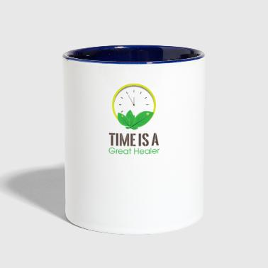 GIFT - TIME GREAT HEALER - Contrast Coffee Mug