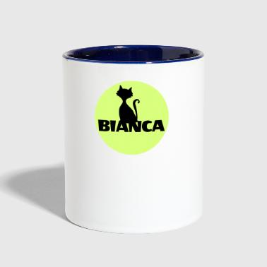 Bianca name first name - Contrast Coffee Mug