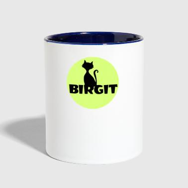 Birgit Name first name - Contrast Coffee Mug