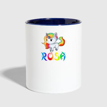 Rosa Unicorn - Contrast Coffee Mug