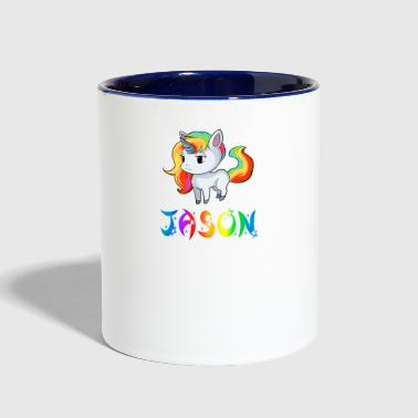 Jason Unicorn - Contrast Coffee Mug
