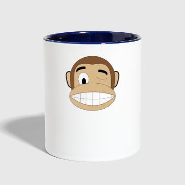 winking monkey - Contrast Coffee Mug