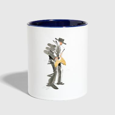 Saxophone Jazz Musician Drawing - Contrast Coffee Mug