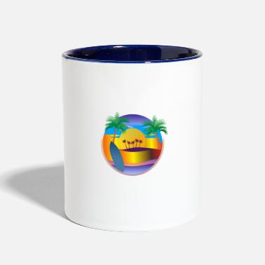 Sea Sun & Sea, summer, nature - Two-Tone Mug