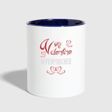 A romantic A romantic Valentine with my Affenpinsc - Contrast Coffee Mug