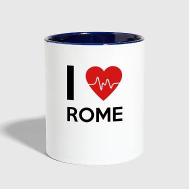 I Love Rome - Contrast Coffee Mug