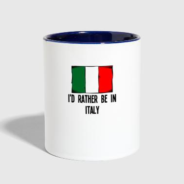 I'd Rather Be In Italy - Contrast Coffee Mug