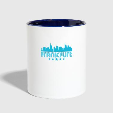 Retro Frankfurt Skyline - Contrast Coffee Mug