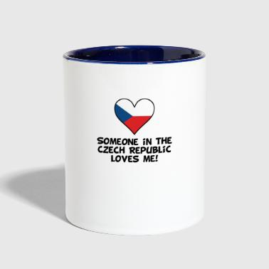 Someone In the Czech Republic Loves Me - Contrast Coffee Mug