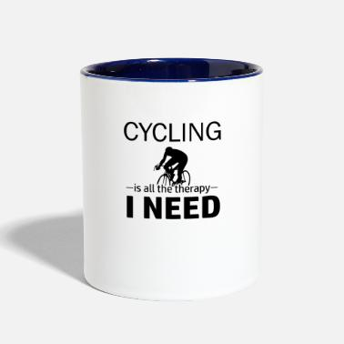 Cycling Cycling is my therapy - Contrast Coffee Mug
