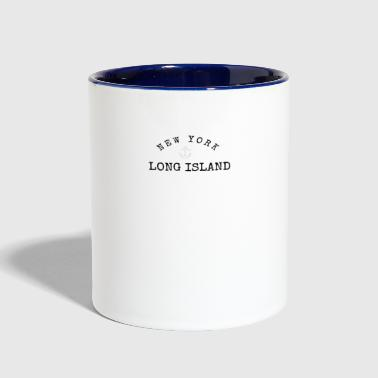 Long Island, New York Anchor - Contrast Coffee Mug