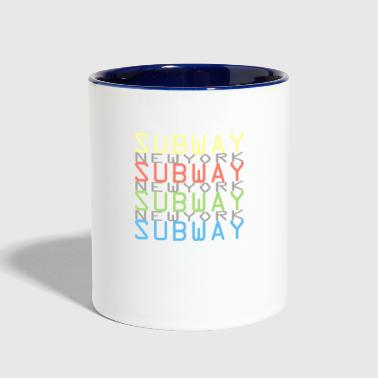 Subway New York - Contrast Coffee Mug
