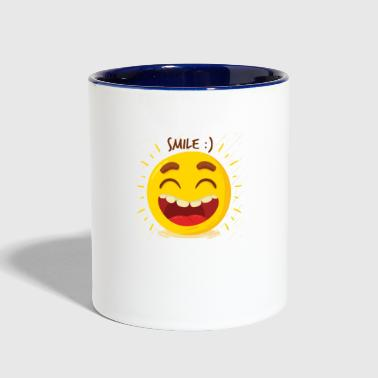 Laugh Laugh Happy - Contrast Coffee Mug