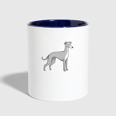 dog - greyhound - Contrast Coffee Mug