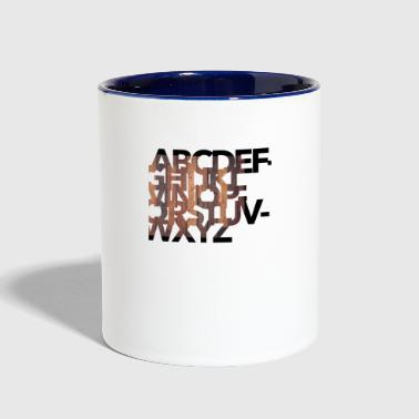 Alphabet - Contrast Coffee Mug