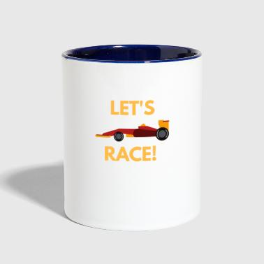 Sportscar: Let´s race - Contrast Coffee Mug